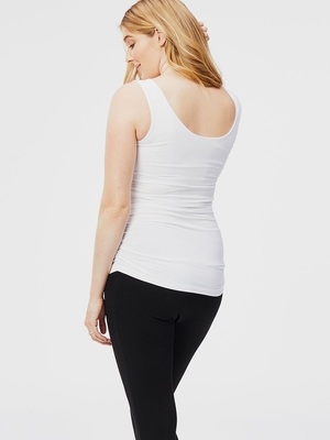 ruched maternity tank